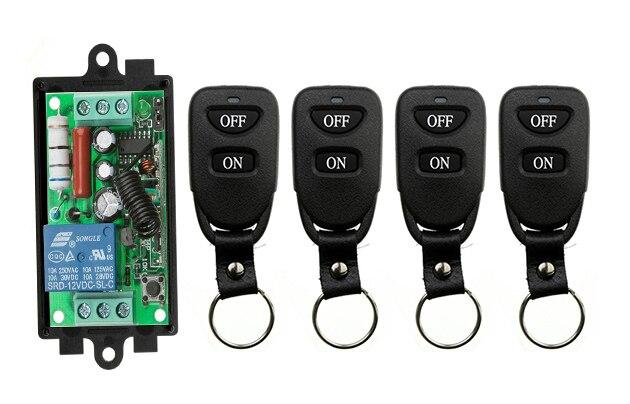 Wireless Remote Control Light Switch AC220V 1CH 10A Relay Output Radio Receiver Module+Belt buckle Transmitter garage door lamp цены