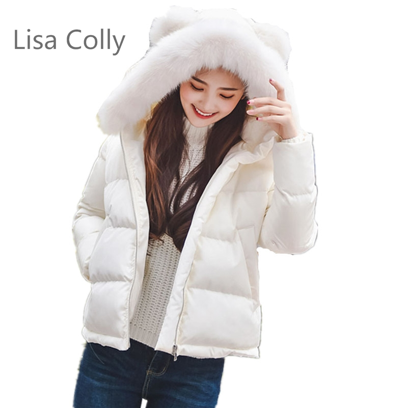Lisa Colly 2017 New Autumn Winter Women Coat Fashion Female Down Jacket Women Parkas Jackets 4 Colours lisa corti короткое платье