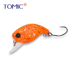Tomic fishing plug 30mm shallow diving wobbler crank bait micro trout lures hard single hook