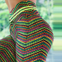 2019 Colorful rainbow linellae printed flowers Winter New Fashion Leggings Hot Sell Womens Digital Pants Trousers Stretch