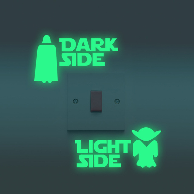 Star Wars Luminous Dark Side – Light Side Home Decor Sticker