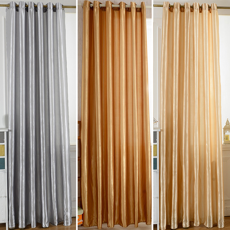 Solid Colors Blackout Curtains Door Room Drapes Decor Modern Curtains For Living Room Window Curtains Blinds Custom Made