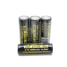 18pcs/lot TrustFire 21700 3.7V 40A 4000mAh 14.8W Lithium Rechargeable Battery with Protected PCB For Toy/Electrical Tools