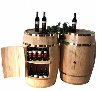 eco-friendly pine wood barrel table for sale