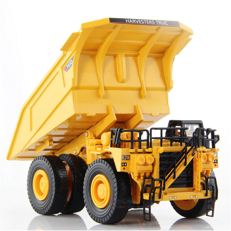 1:75 KAIDIWEI Diecast & ABS Alloy Mining Truck Car Model Toy Miniature Mine Transport Vehicle Toys For Collection Kids Cars high simulation 1 40 scale diecast engineering vehicle mine dump truck metal model alloy toys collection for adult kids gifts