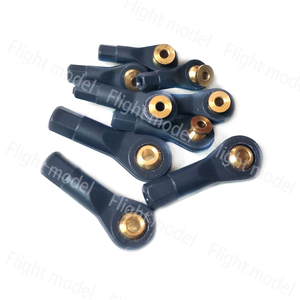 10pcs M2 M2.5 M3 Head Holder Ball Joint For RC Hobby Airplane Boat Car Model 4pcs push rod cw ccw thread link arm with m3 x30mm ball joint rc airplane replacement part