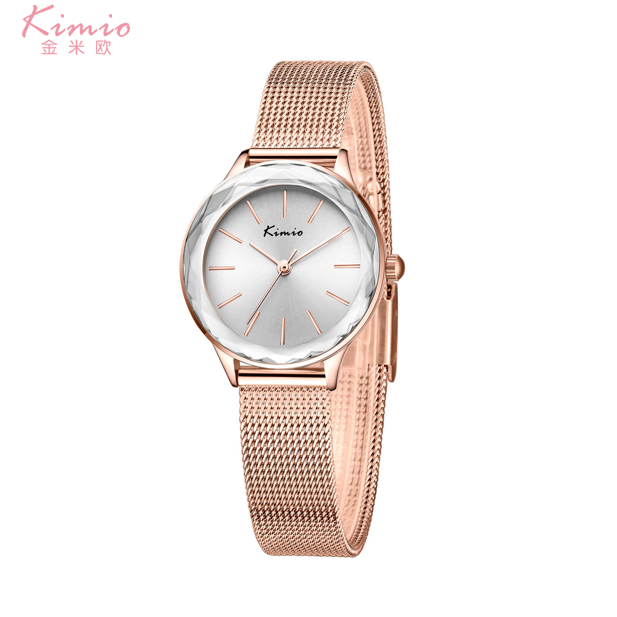 KIMIO Colorful Quartz Diamond Alloy Rose
