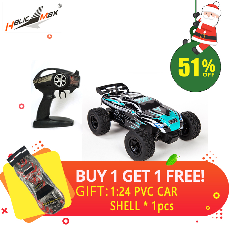 HeLicMax Rc Car Drift Off-Road Vehicle 1:24 Fast Remote Control Racing Cars Race Electric Toys Cars Radio Controlled Car Wltoys wltoys 12402 rc cars 1 12 4wd remote control drift off road rar high speed bigfoot car short truck radio control racing cars