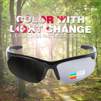 Photochromic Cycling Sunglasses TR90 Road Bike Glasses 3 In 1 Lens All Weather Eyewear Mountain Skidproof