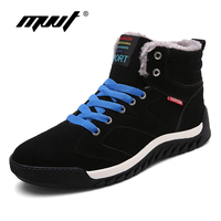 MVVT Super Warm Winter Shoes Men Casual Shoes With Fur Keep Warm Snow Shoes Suede Outdoor