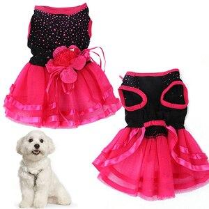 Image 1 - כלב הגעה חדש עלה פרח גזה טוטו שמלת חצאית גור חתול נסיכת בגדי הלבשה שמלת לכלבים כלב תלבושות