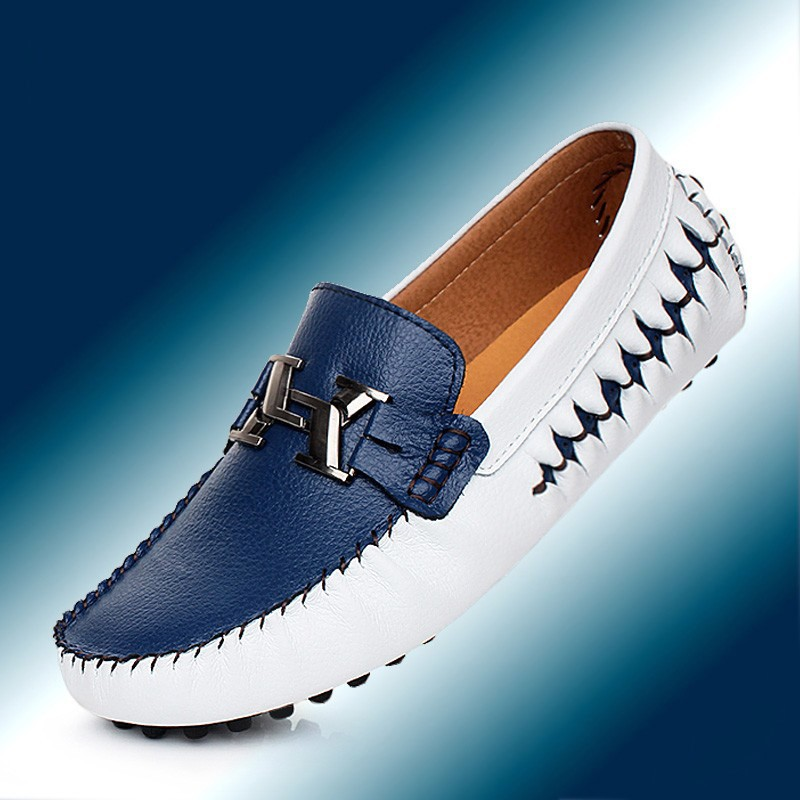 Plus Size 38-44 High Quality Genuine Leather Men Shoes Soft Moccasins Loafers Fashion Brand Men Flats Comfy Driving Shoes 2017 new brand breathable men s casual car driving shoes men loafers high quality genuine leather shoes soft moccasins flats