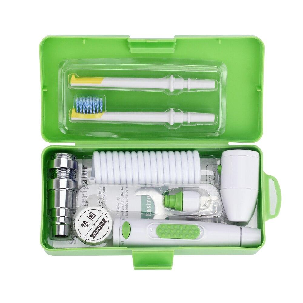 Portable Robinet Orale Irrigator Eau Flosser Dentaire Brosse À Dents Tête Amovible Jet Soie Mettre En Œuvre avec la Boîte 2 Jet Conseils D'arrosage