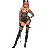 Abbille Cops Cosplay Mesh Dress Women Cat Police Role Play Hot Sexy Cops Costumes Women Sexy