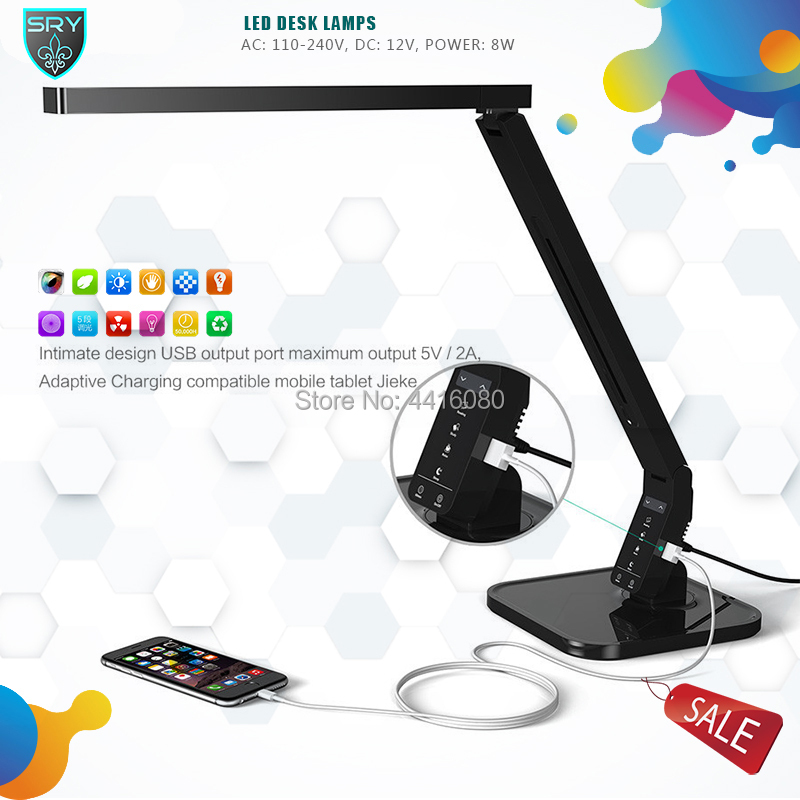 Multi-function Timing Desk Lamp 15w And 4 Kind Of Lighting Lamp Table Led With USB Charging Port Touch Control Memory Function