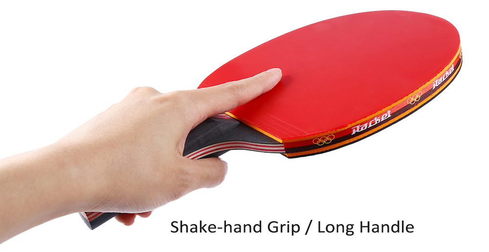 Regail Long Handle Shake Hand Grip Table Tennis Racket Ping Pong