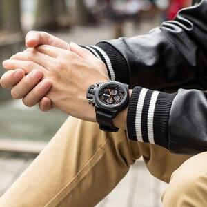 Image 5 - MEGIR מקורי שעון גברים ספורט קוורץ גברים שעונים הכרונוגרף שעון יד Relogio זמן שעה שעון Reloj Hombre Mens שעונים