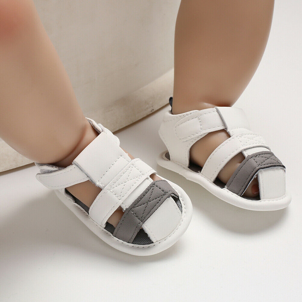 Cute Baby Boys Girls Sandalias Fashion Toddler Baby PU Leather Hollow Shoes Clogs Summer Newborn Baby Beach Sandals