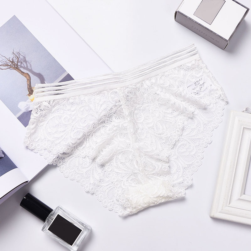 2019 Embroidery Transparent Lace Briefs Women Underwear Sexy Panties Seamless Panties Lingerie Womens Porno Intimates in women 39 s panties from Underwear amp Sleepwears