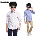 New Plaid Shirts For Boys Clothes Casual Boys Cotton Shirts 2017 Spring 4-13Y Children's Shirts School Uniform Kids Shirts SC757