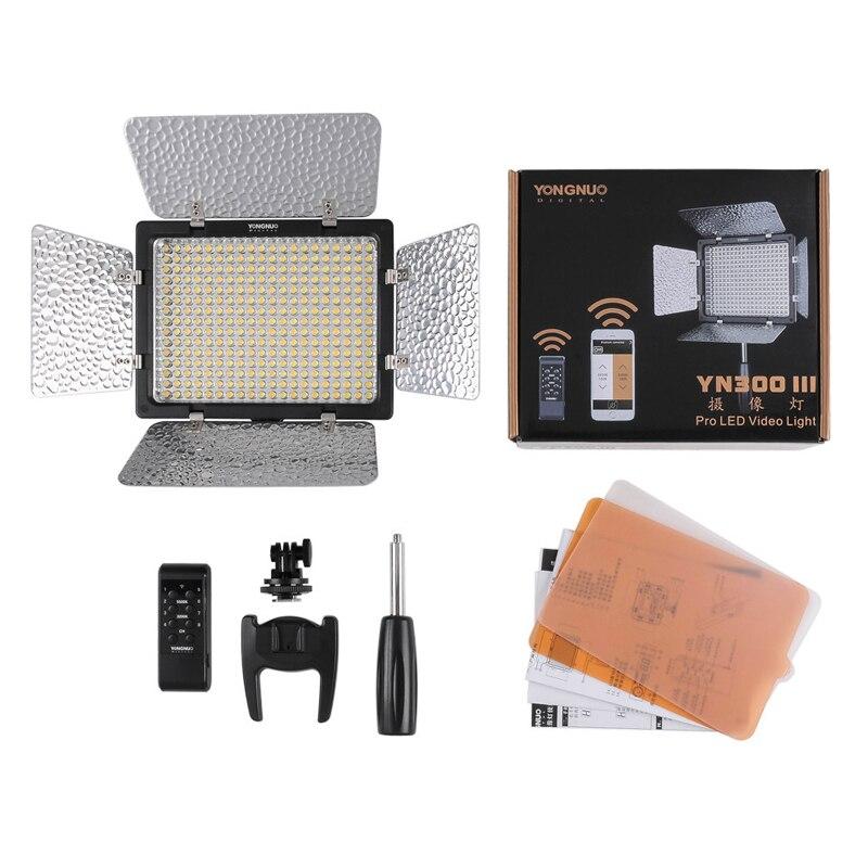 Yongnuo YN300 III YN-300 lIl 3200k-5500K CRI95+ Pro LED Video Light with Remote Control,Support AC Power Adapter & APP Remote цена 2017