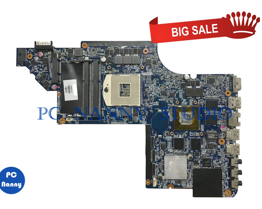 PC NANNY For HP DV7-6000 Laptop Motherboard 659095-001 HM65 DDR3 HD6770M tested
