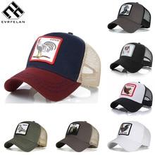 e1be20fd27a45 Evrfelan Fashion Mesh Baseball Cap Unisex Lovely Animals Caps Women Men  Snapback Cap Dad Hat Summer bone