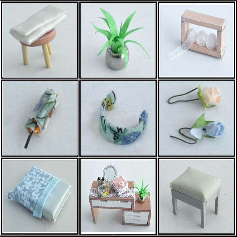 DIY Doll House Trä Miniatura Doll House Miniatyr Dollhouse Leksaker - Dockor och tillbehör - Foto 4