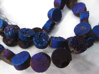 high quality --2strands AA Grade 8 10 12mm Genuine Duzy Drusy Agate Round Button Rose violete Assortment cabochons bead