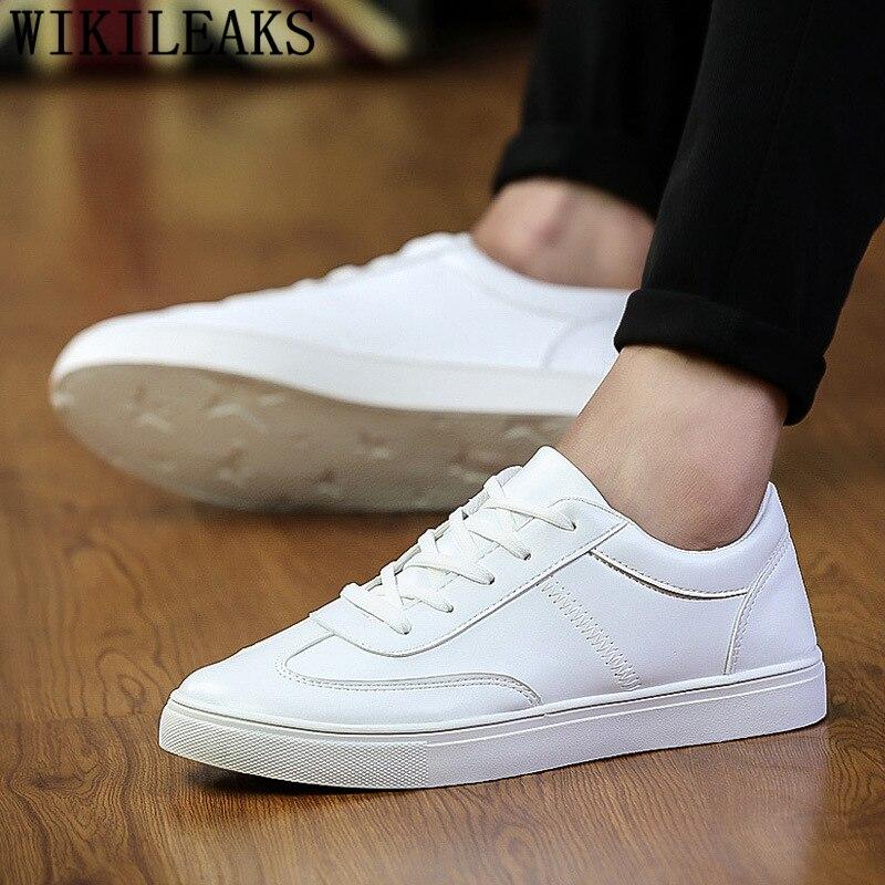 Designer Shoes White Sneakers Luxury Brand High-Quality Chaussure Erkek Ayakkabi Homme