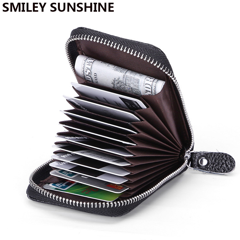SMILEY SUNSHINE Genuine Leather Credit Card Holders Rfid WalleBusiness Bank Card Case Cardholder Card & id Holders porte carte smiley sunshine fashion business id credit card holder women bank card case cardholder female slim wallet for cards porte carte