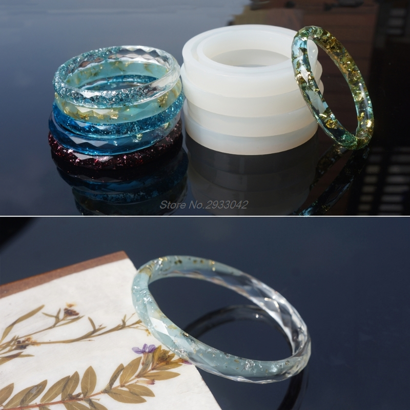 Round Silicone Mold Resin Bracelet Bangle For DIY Jewelry Casting Mould Tools -W128