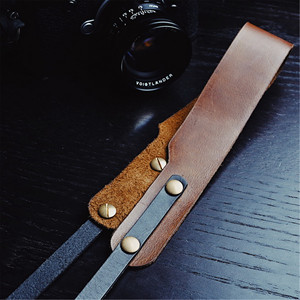 Image 5 - Hand Made Genuine Leather Sling Shoulder Strap Belt Brown For Camera Leica Fuji Sony Canon Olympus