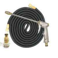 High quality 25FT 75FT Expandable Garden Hose Magic telescopic Hose High Pressure Car Metal Nozzle Hose Set for Garden Watering
