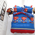 Superman Kids Bedding Set  Bed Sheets Duvet Cover Home Textile Pillowcase twin size single bed
