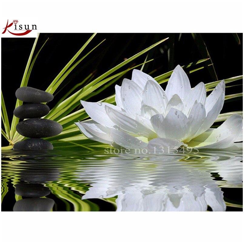 Diamant rond broderie foamiran fleur lotus peinture au point de croix kits chinois mosaïque rubik cube 2*2 perles artisanat E220