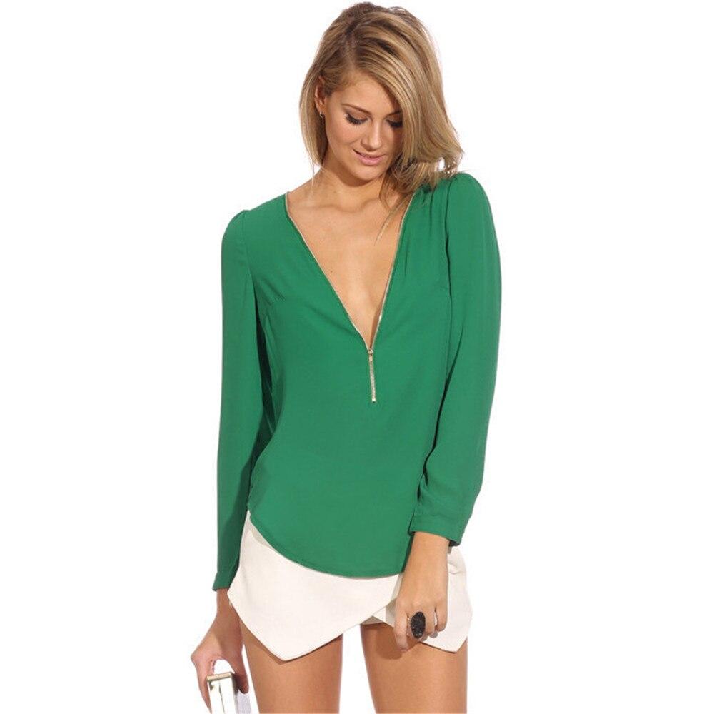 Online Get Cheap Chiffon Green Blouse -Aliexpress.com   Alibaba Group