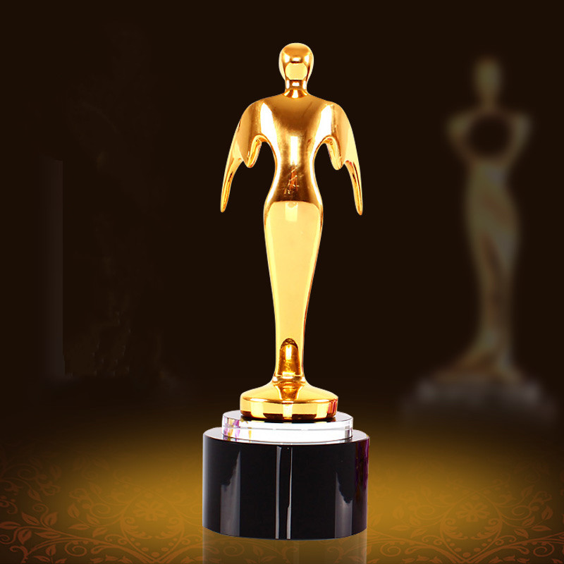 OSCAR Sports Event Medal Crystal trophies and awards Customized Logo Basketball Football Golf Tennis Award Champions Cup Trophy