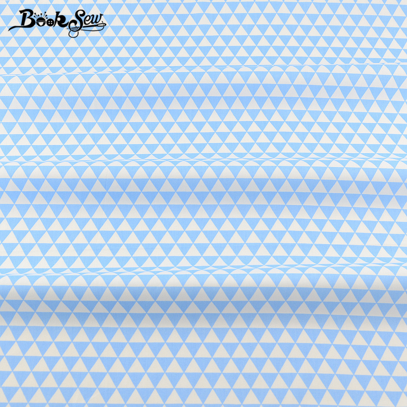 Booksew Fabric Sky Blue Triangle Tissue Material Bed Sheet Crafts