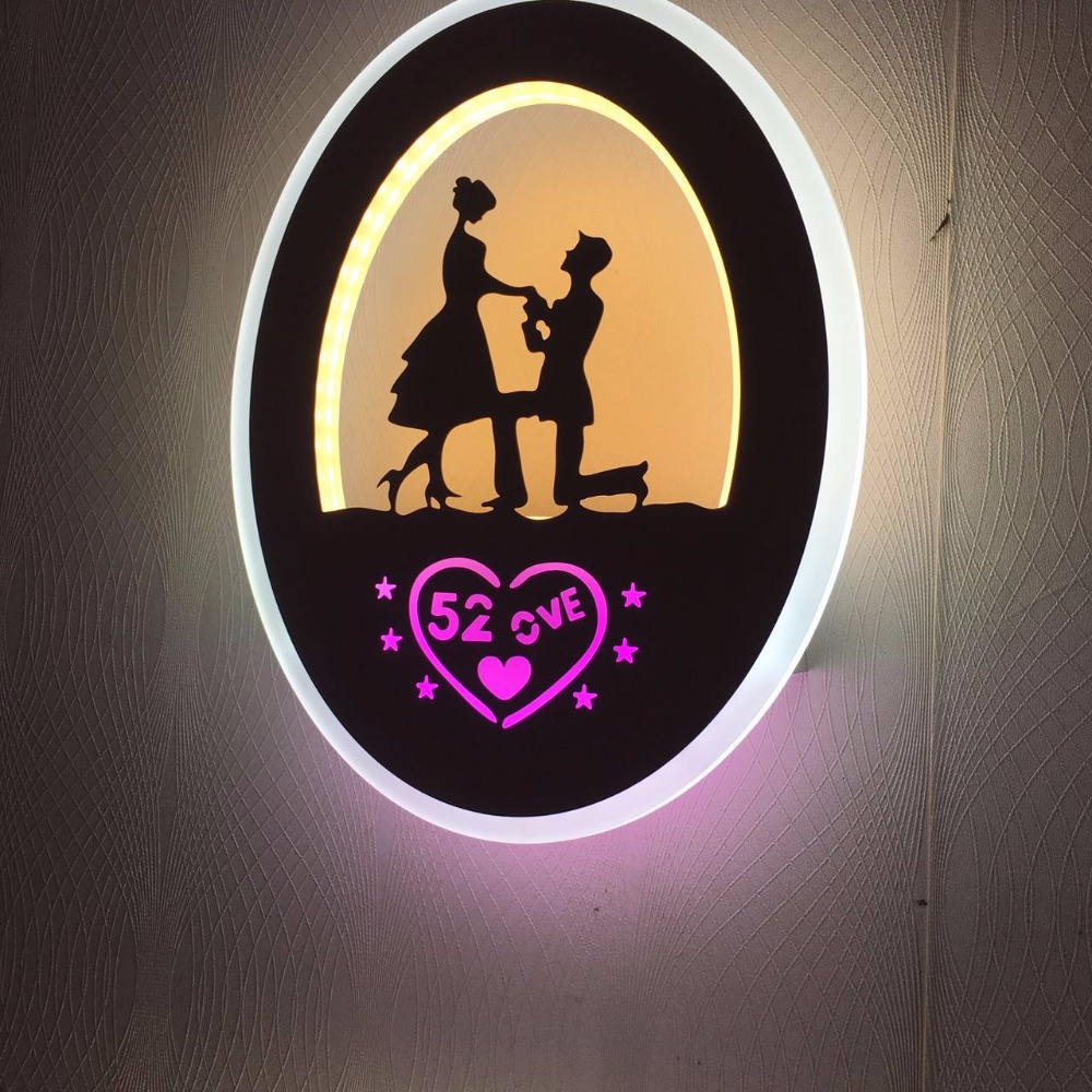 Artpad Simple Modern Bedroom Bedside Wall Lamp Cute Cartoon 3D Acrylic LED Night Lights  ...