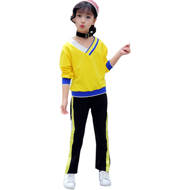 Children Clothing Sets For Girls Sports Suits Striped V-Neck T-Shirts For Girls Pants 2Pcs Spring Autumn Kids Outfits Tracksuits spring newborn suits new fashion baby boys girls brand suits children sports jacket pants 2pcs sets children tracksuits