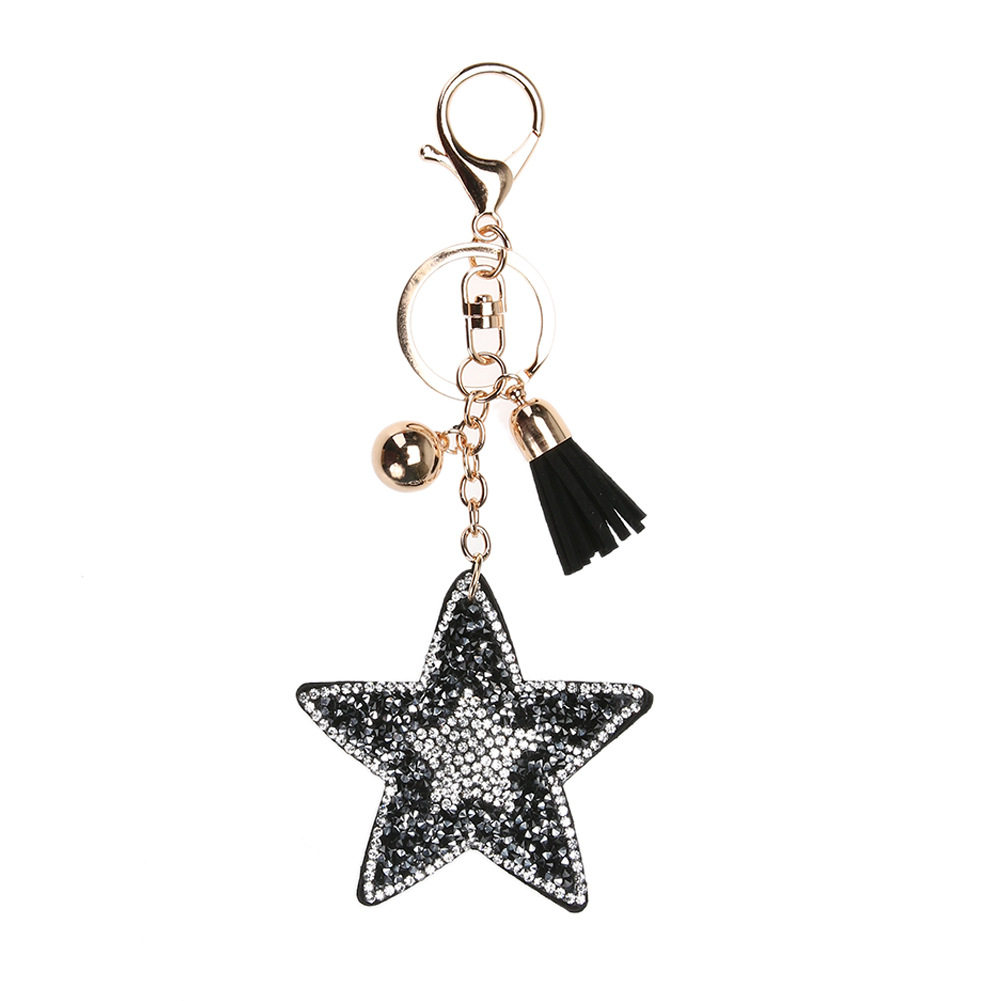 цена New Charm Leather Starfish Tassel Pendant keychain Trinket Alloy Bag Key Ring Holder for Women Gift Souvenir Jewelry Keychain в интернет-магазинах