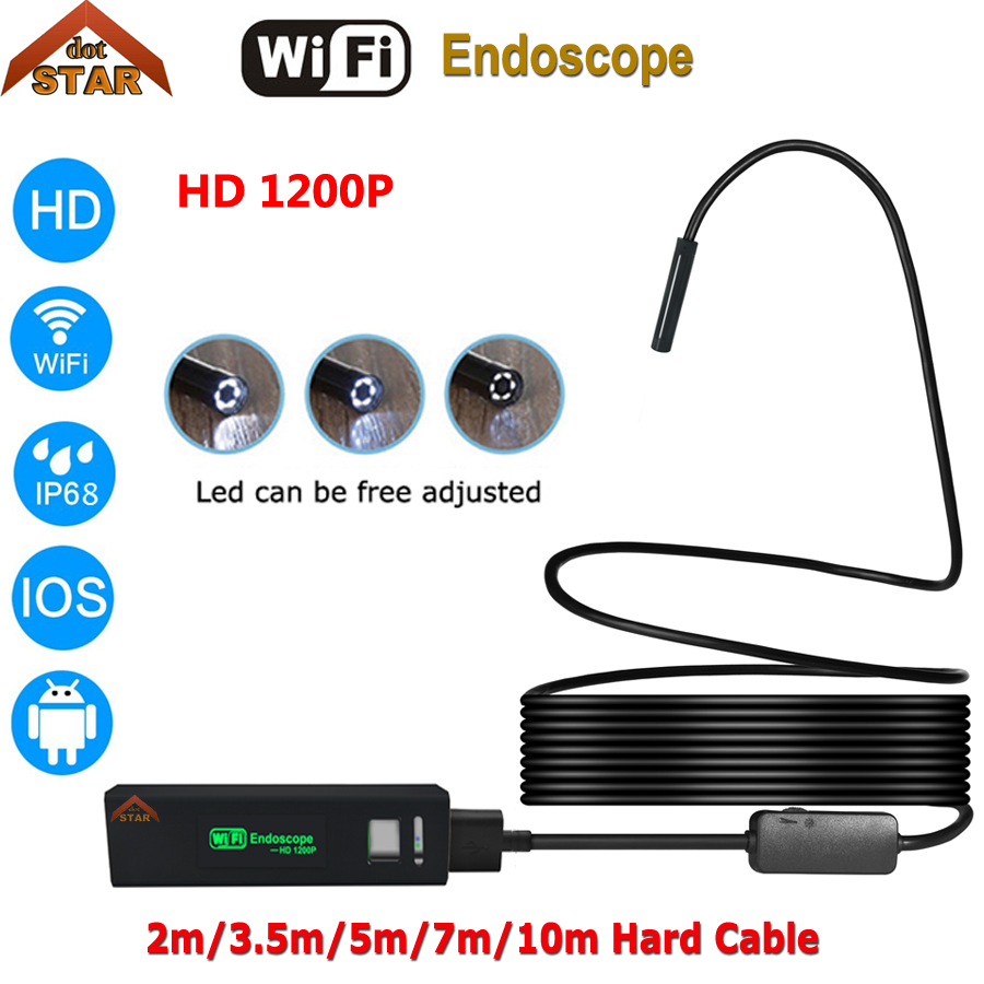 Stardot Endoscope Camera Wifi Android Hard Cable Waterproof Snake Tube Pipe Borescope Iphone USB Endoscope stardot usb endoscope android mini camera 7mm lens ip67 waterproof inspection borescope camera flexible snake tube endoskop