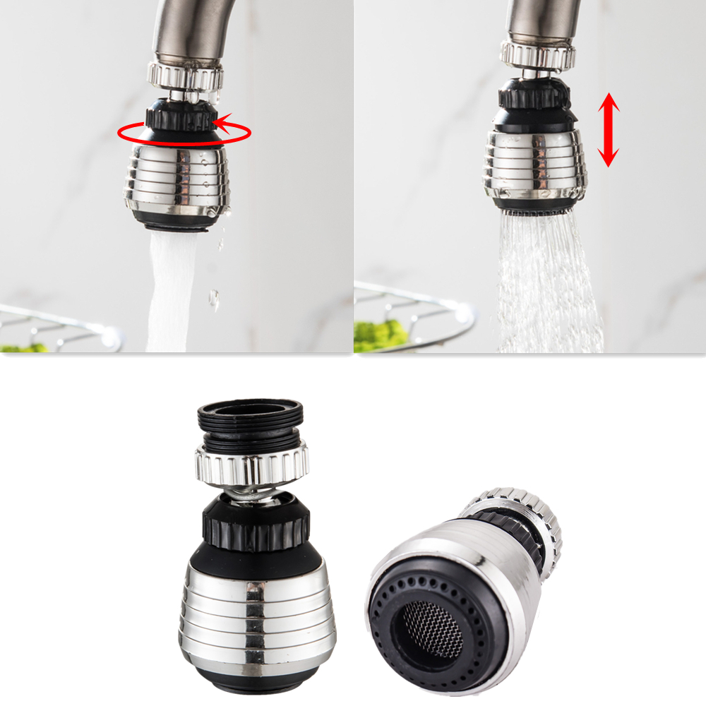 2 Modes 360 Degree Rotate Swivel Faucet Nozzle Filter Adapter Water Saving Tap Aerator Diffuser Bathroom Shower Kitchen Tools