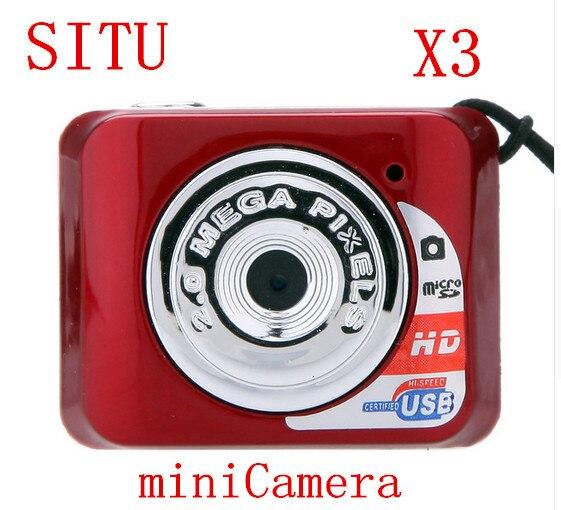 X3 Micro Portable HD Mega Pixel Small Video Audio Digital Camera Mini Camcorder 480P DV DVR Driving Recorder Web Cam 720P JPG