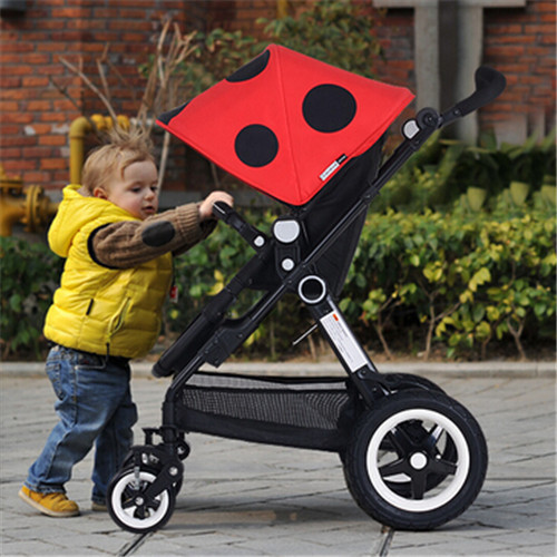 Newborn Sleeping High Landscape Basket for Newborn Baby Stroller Prams Kid Carriage Pushchair Special 6 Colors Portable Stroller