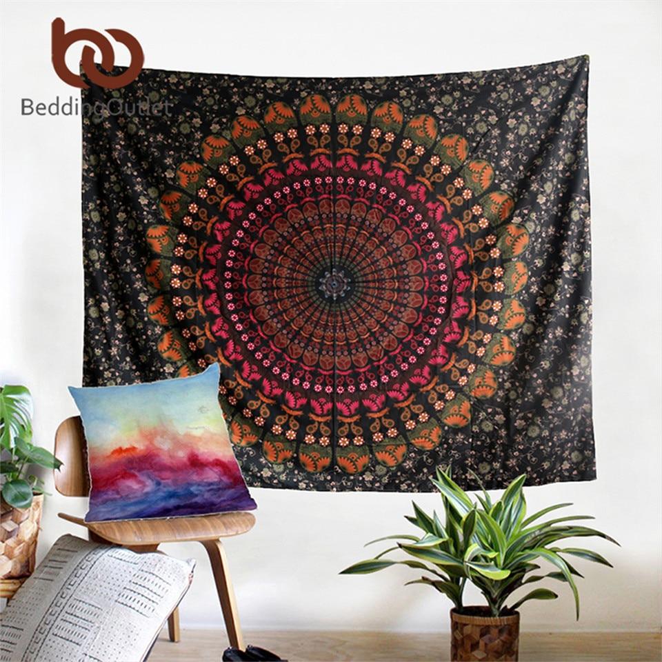 Beddingoutlet boho permadani cinta membentang dicetak menggantung - Tekstil rumah