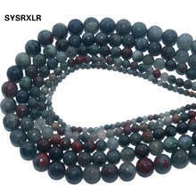 Wholesale Faceted Natural Stone African Blood  Loose Beads For Jewelry Making DIY Bracelet Necklace 4 6 8 10 12 MM Strand