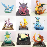 Lucario Articuno Mewtwo Charizard Pikachu Anime Cartoon Action Toy Figures Collection Model Toy Car Decoration Toys