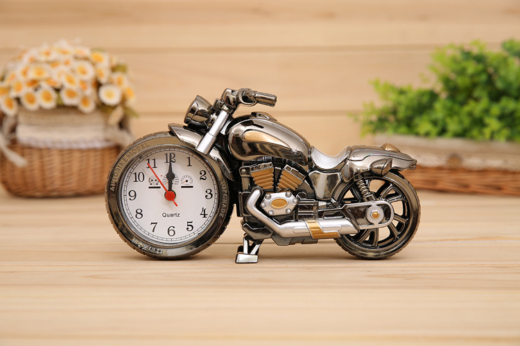 New Relogio De Mesa Home Decoration Quartz Alarm Clock Super Cool Motorcycle Model Creative Retro Gift Decor Kids Children Gift